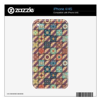 Vintage mosaic talavera ornament skin for iPhone 4
