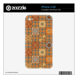 Vintage mosaic talavera ornament skins for iPhone 4S
