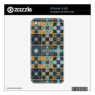 Vintage mosaic talavera ornament skins for the iPhone 4