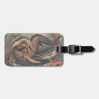 Vintage Mosasaurus vs. Ichthyosaurs Print Bag Tag