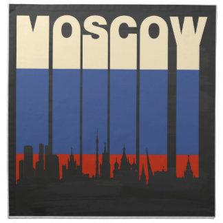 Vintage Moscow Cityscape Cloth Napkin