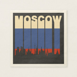 Vintage Moscow Cityscape Paper Napkin