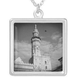 Vintage mosque photo print - Damascus Syria Necklace