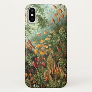 Vintage Moss Plants by Ernst Haeckel, Muscinae iPhone X Case