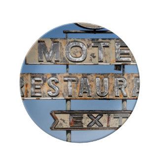 Vintage Motel/Restaurant sign Plate