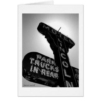 Vintage Motel Sign 1 Greeting Card