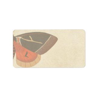 Vintage Moth Label