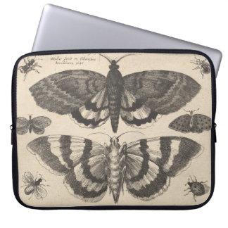 Vintage Moth Lepidoptera Laptop Sleeve