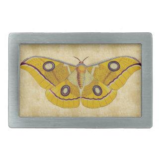 Vintage Moth Rectangular Belt Buckle