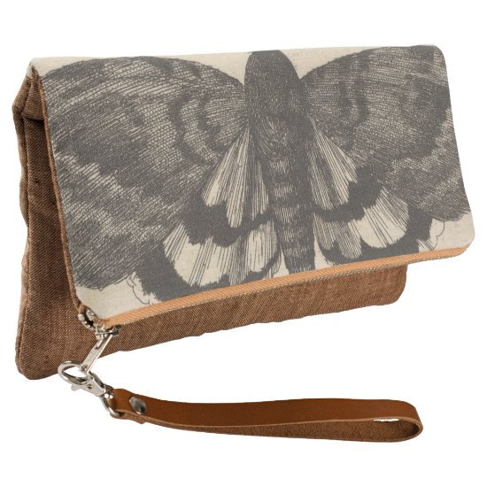 Vintage Moth Wings Lepidoptera Illustration Clutch