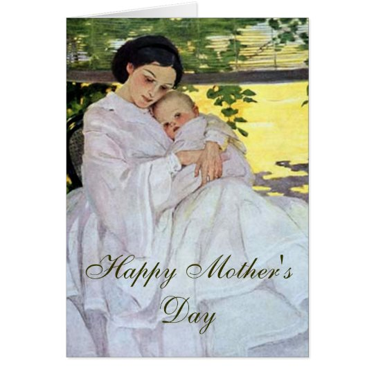 Vintage Mother and Baby Card