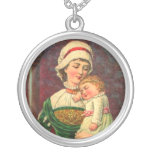 Vintage Mother and Baby Personalized Necklace