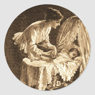 Vintage Mother and Baby Sticker