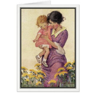 Vintage Mother and Child by Jessie Willcox Smith Card