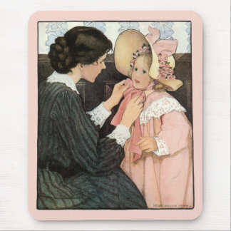 Vintage Mother and Child by Jessie Willcox Smith Mouse Pad