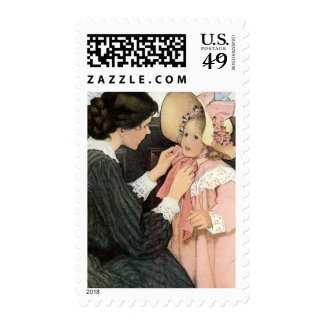 Vintage Mother and Child by Jessie Willcox Smith Postage