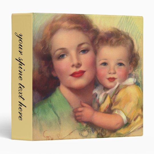 Vintage Mother and Child Family Portrait 3 Ring Binder