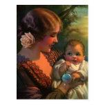 Vintage Mother and Child Family Portrait Postcards
