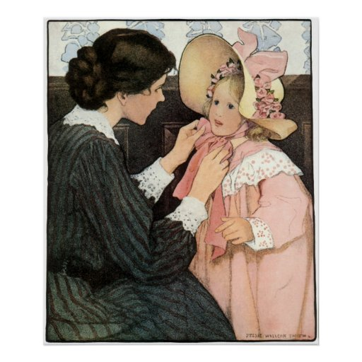 Vintage Mother and Child; Jessie Willcox Smith Poster