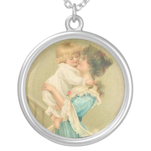 Vintage Mother and Child Pendant
