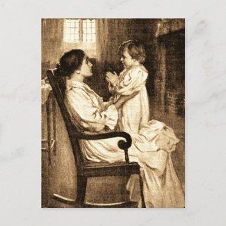 Vintage Mother and Child postcard