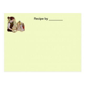 Vintage Mother and Child Recipe Blank Card