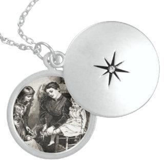 Vintage Mother and Children Necklace