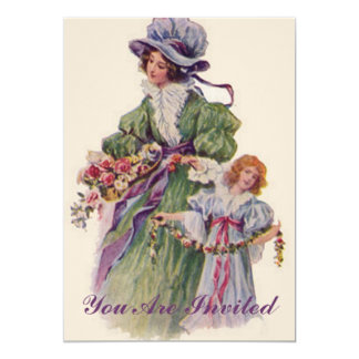Vintage Mother And Daughter Card