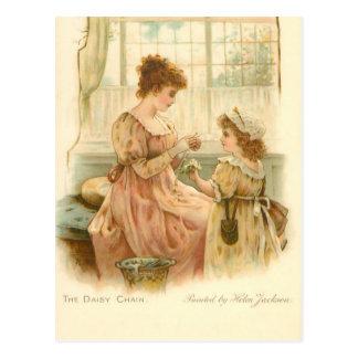 Vintage Mother And Daughter Postcard