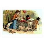 Vintage Mother Cat Postcard