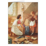 Vintage Mother &  Child with Momentos Greeting Card