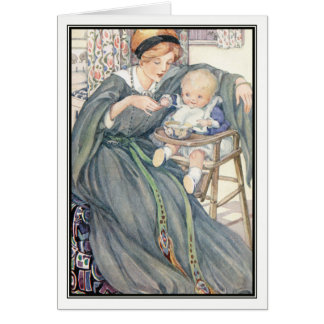 Vintage Mother Feeding Baby by Anne Anderson Card