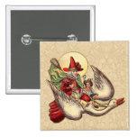 Vintage Mother Goose Antique Illustration Pinback Button