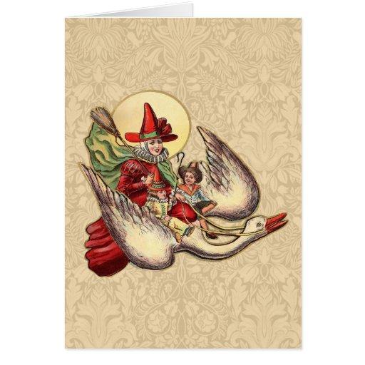 Vintage Mother Goose Antique Illustration Card