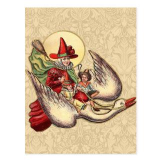 Vintage Mother Goose Antique Illustration Postcard