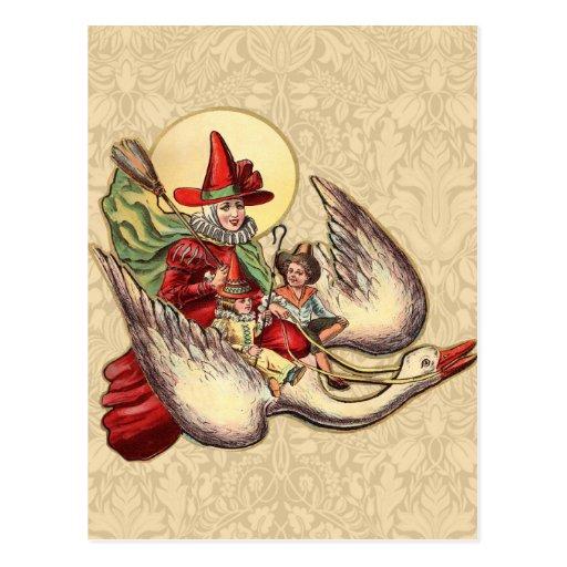 Vintage Mother Goose Antique Illustration Post Cards