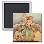 Vintage Mother Goose Children Jessie Willcox Smith 2 Inch Square Magnet