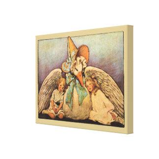 Vintage Mother Goose Children Jessie Willcox Smith Canvas Prints