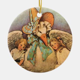 Vintage Mother Goose Children Jessie Willcox Smith Ceramic Ornament