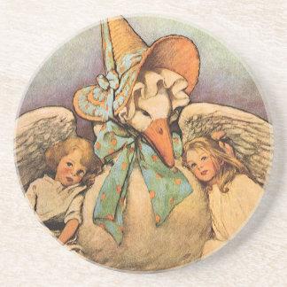 Vintage Mother Goose Children Jessie Willcox Smith Drink Coaster