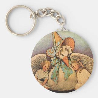 Vintage Mother Goose Children Jessie Willcox Smith Keychain
