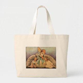 Vintage Mother Goose Children Jessie Willcox Smith Large Tote Bag