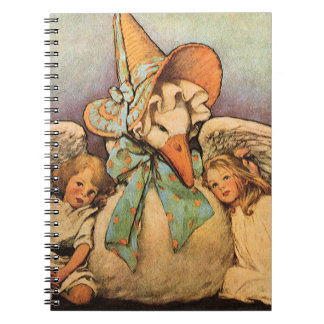 Vintage Mother Goose Children Jessie Willcox Smith Notebook