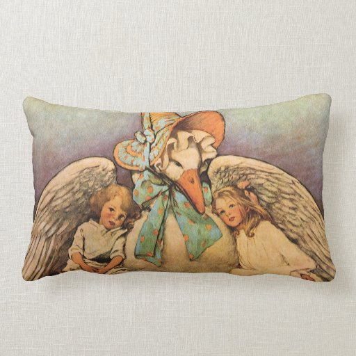 Vintage Mother Goose Children Jessie Willcox Smith Throw Pillow