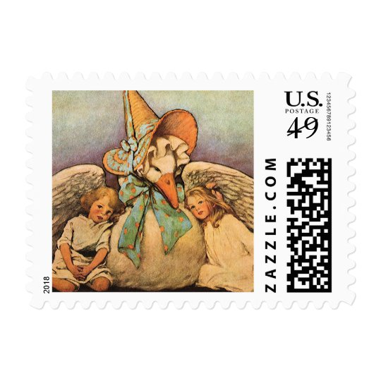 Vintage Mother Goose Children Jessie Willcox Smith Postage