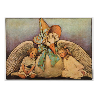 Vintage Mother Goose Children Jessie Willcox Smith Poster