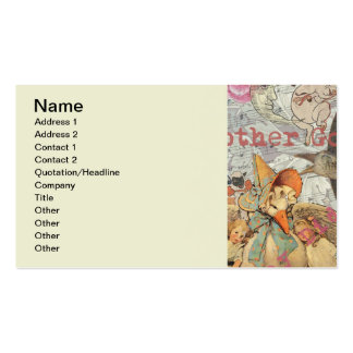 Vintage Mother Goose Fairy tale Collage Business Card