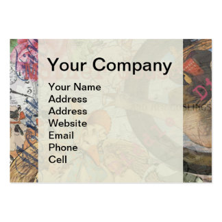 Vintage Mother Goose Fairy tale Collage Large Business Card