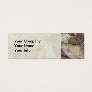Vintage Mother Goose Fairy tale Collage Mini Business Card