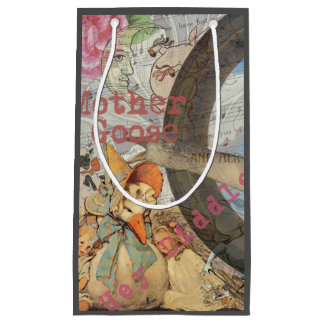 Vintage Mother Goose Fairy tale Collage Small Gift Bag